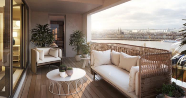 Achat / Vente immobilier neuf Bordeaux rive droite face à la promenade des Quais (33000) - Réf. 5331